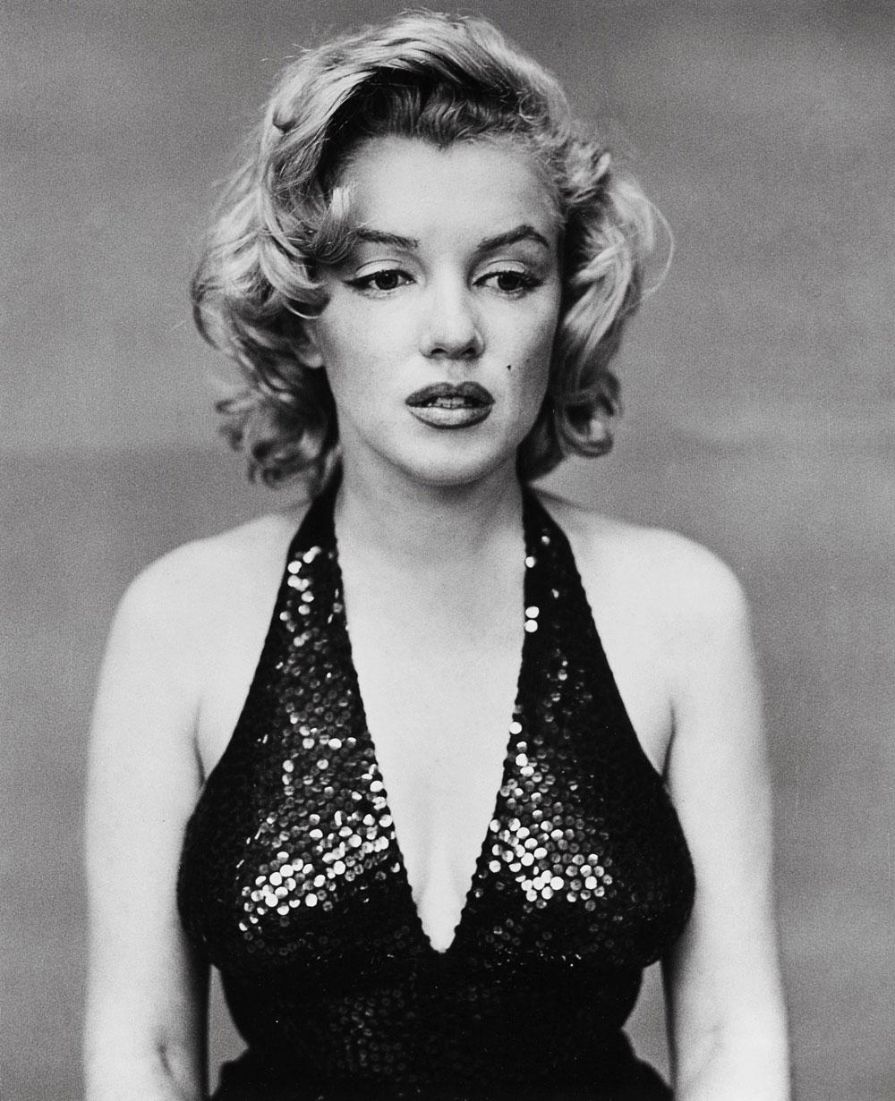 retrato fotográfico de Marilyn Monroe, por Richard Avedon