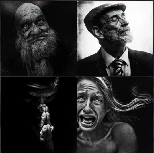 retratos fotográficos de personas sin hogar por Lee Jeffries