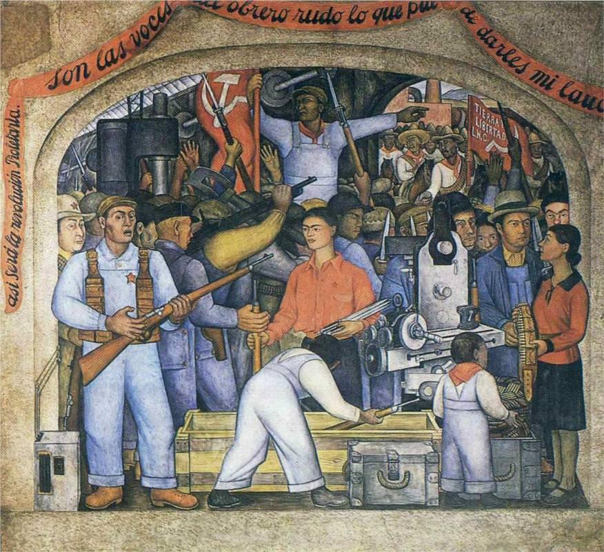 El arsenal, de Diego Rivera